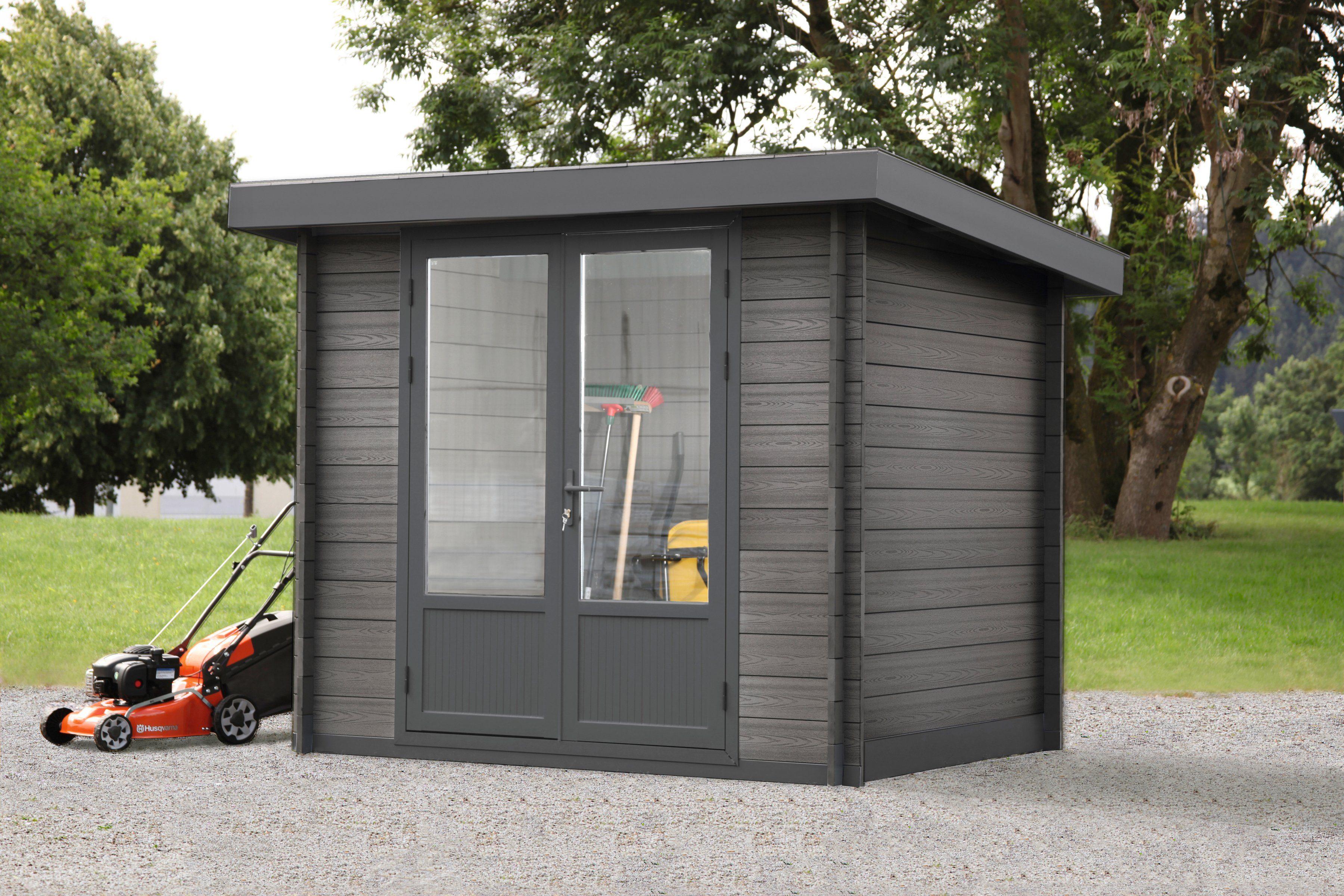 WOLFF Gartenhaus »WPC-Trend grau«, BxT: 234x187 cm