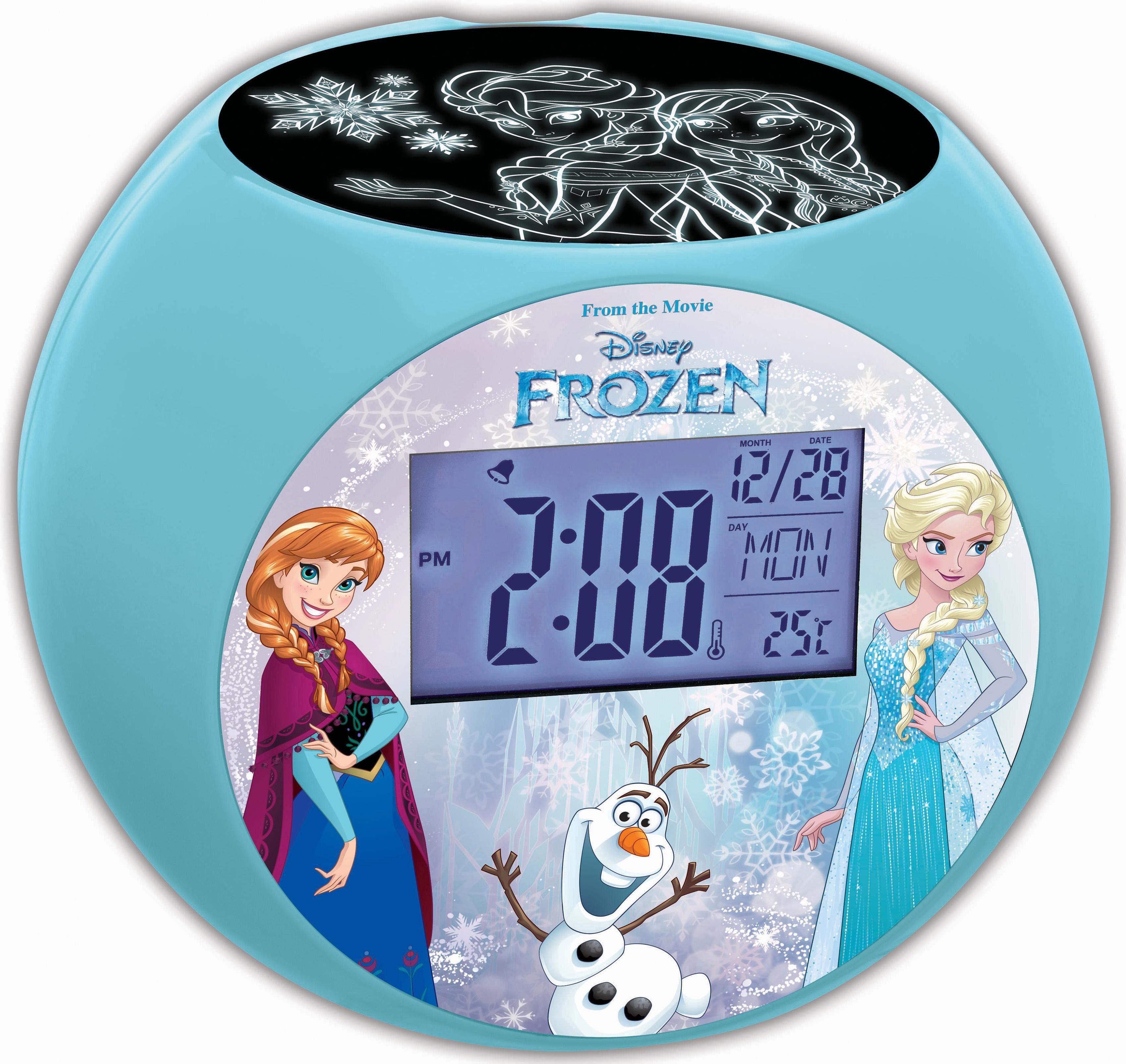 Lexibook Projektionsuhr, »Radiowecker mit Nachtlicht, Frozen«