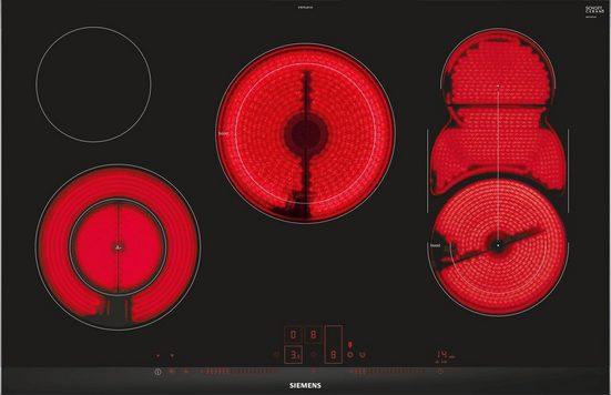 SIEMENS Elektro-Kochfeld von SCHOTT CERAN® ET875LMV1D, mit cookConnect-System