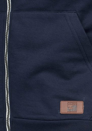 Ocean Sportswear Kapuzensweatjacke, Internally Plasticized Roughened