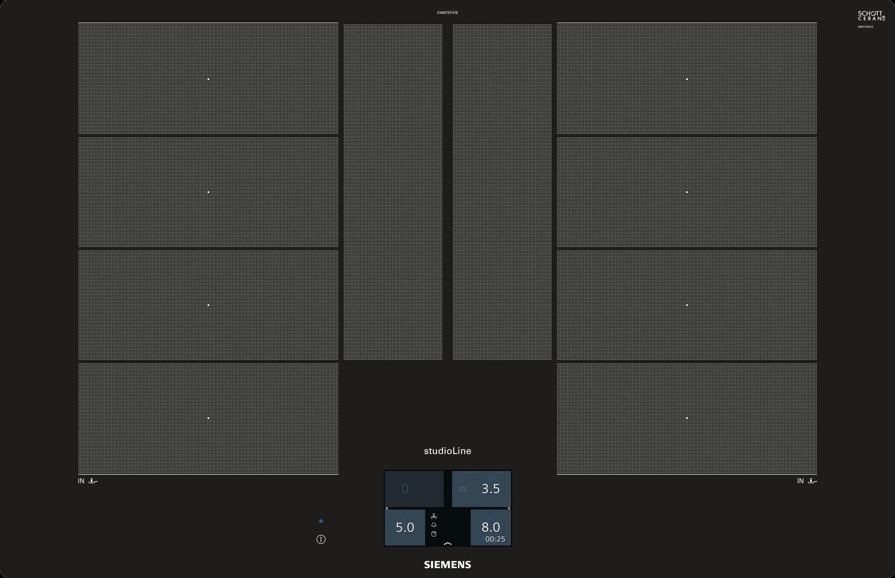"Siemens 80 cm Flex-Induktions-Kochfeld ""EX801KYW1E"""