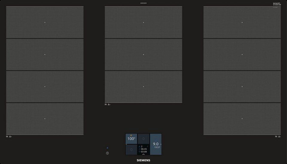 siemens 90 cm flex induktions kochfeld ex901kxw1e online. Black Bedroom Furniture Sets. Home Design Ideas