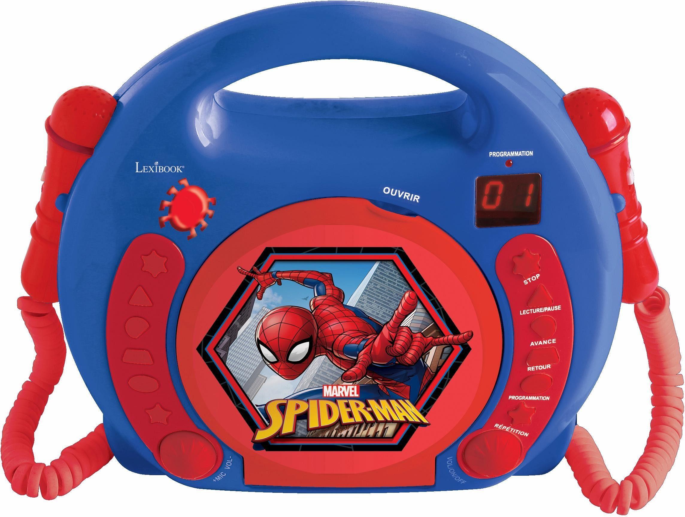 Lexibook CD-Player mit 2 Mikrofonen, »Marvel Spider Man«