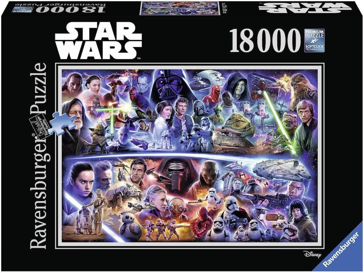 Ravensburger Puzzle, 18000 Teile, »Disney Star Wars: Galaktische Zeitreise «