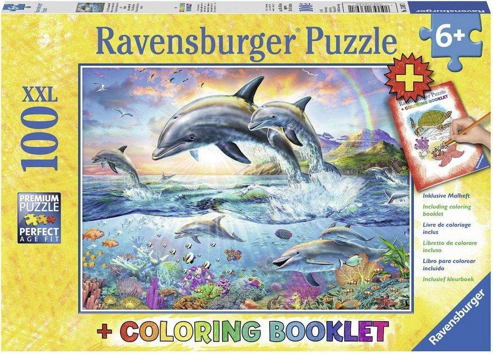 ravensburger puzzle 100 teile bunte unterwasserwelt. Black Bedroom Furniture Sets. Home Design Ideas