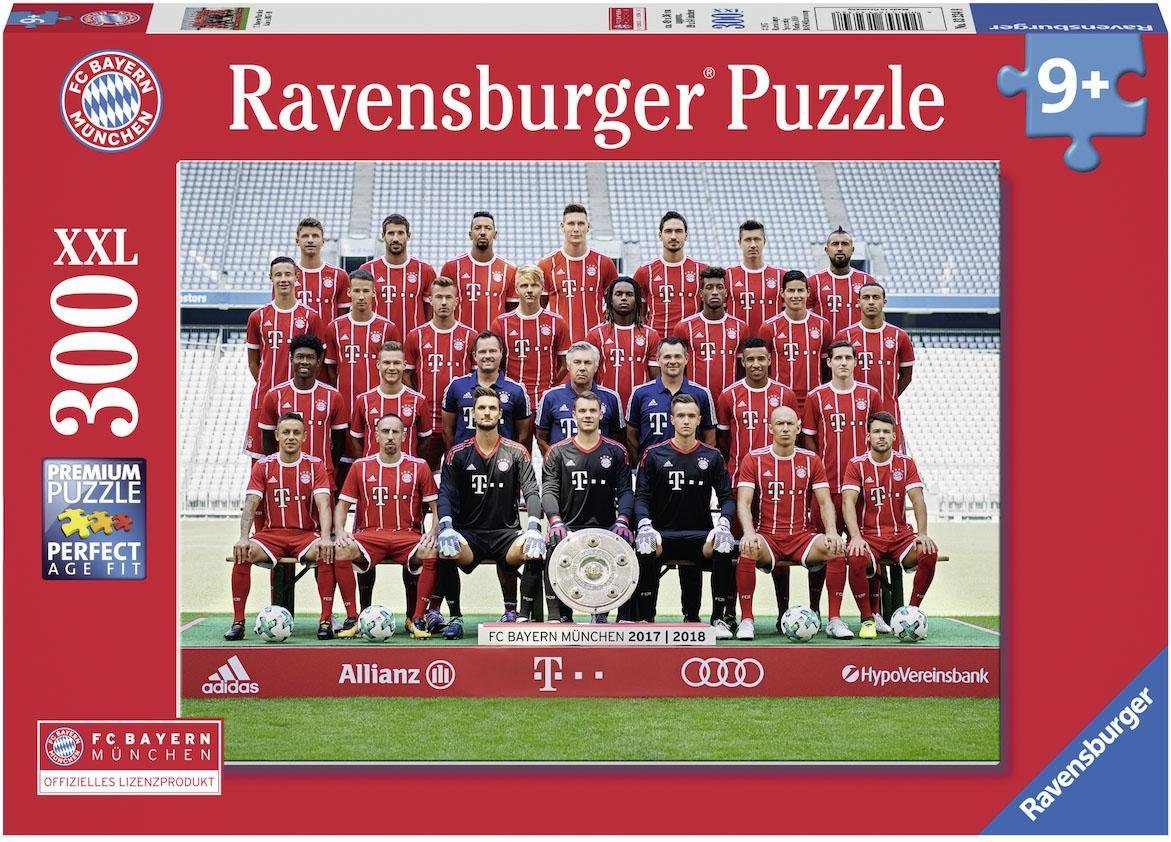 Ravensburger XXL Puzzle, 300 Teile, »FC Bayern Saison 2017/18 «