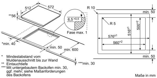 SIEMENS Flex-Induktions-Kochfeld EX601JYW1E, mit cookConnect-System
