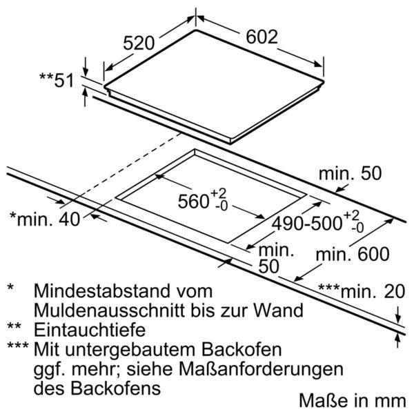 SIEMENS Flex-Induktions-Kochfeld EX675JYW1E, mit cookConnect-System