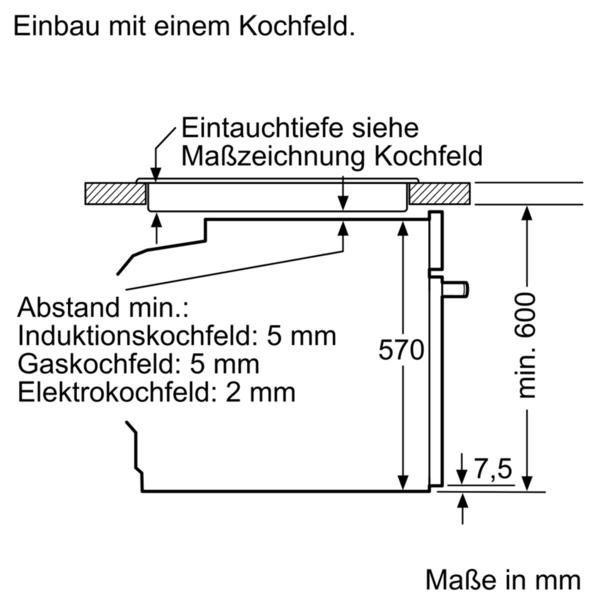 SIEMENS Elektro-Herd-Set EQ210KA00, mit 3D-Heissluft