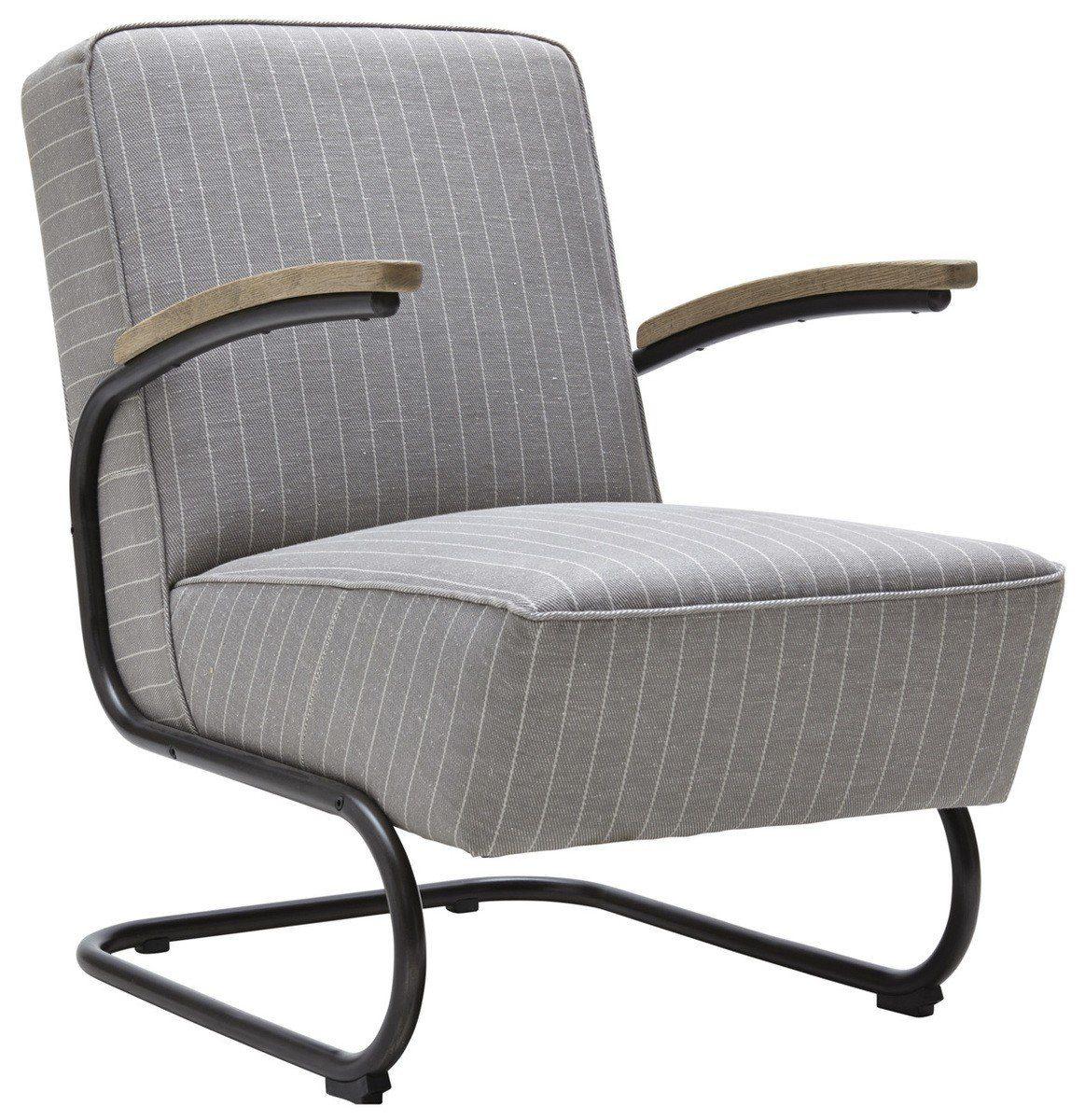 Kasper-Wohndesign Sessel Stoff grau Freischwinger »Joe«