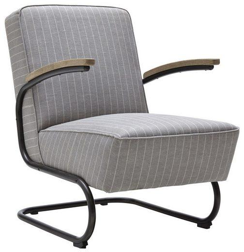Kasper Wohndesign Landau: Kasper-Wohndesign Sessel Stoff Grau Freischwinger »Joe