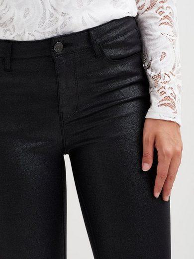 Vila Mit Glitzer beschichtete Jeans