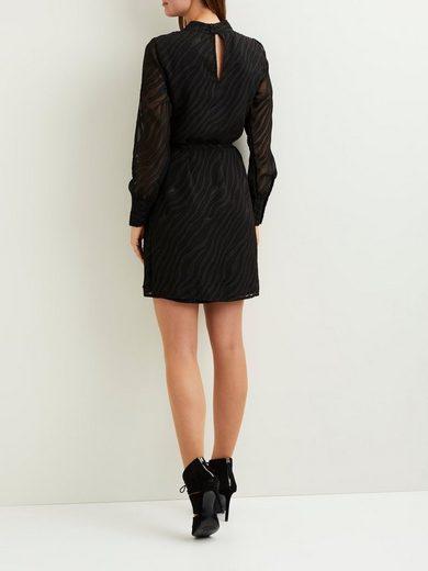 OBJECT Gemustertes, langärmeliges Kleid