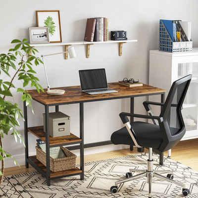 VASAGLE Schreibtisch »LWD47X LWD47MB«, Schreibtisch, Computertisch, Bürotisch, vintage