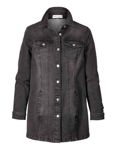Schwarze jeansjacke gefuttert herren