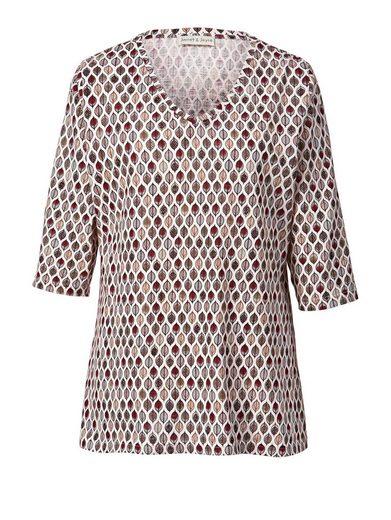 Janet und Joyce by Happy Size Shirt mit Allover-Print
