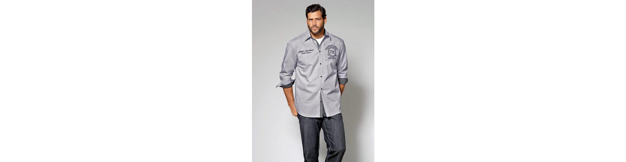 Die Kostenlose Versand Hochwertiger Günstig Kaufen Manchester Großen Verkauf Men Plus by Happy Size Hemd mit Allover-Print Manchester Online CyyA6weAnn