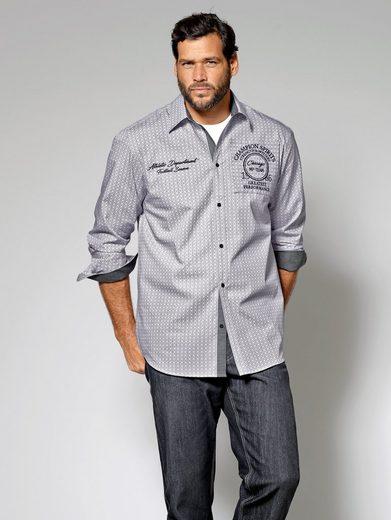 Men Plus by Happy Size Hemd mit Allover-Print
