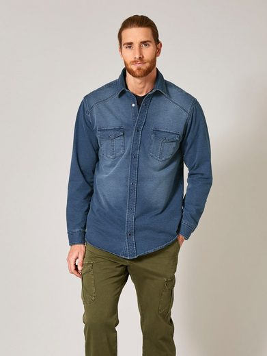 Men Plus by Happy Size Jeanshemd aus Jog-Denim