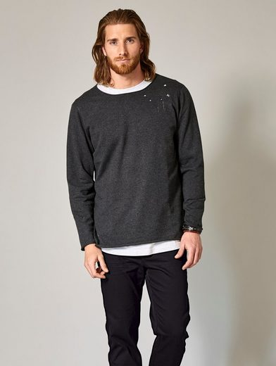 Men Plus by Happy Size Pullover im Destroyed-Look