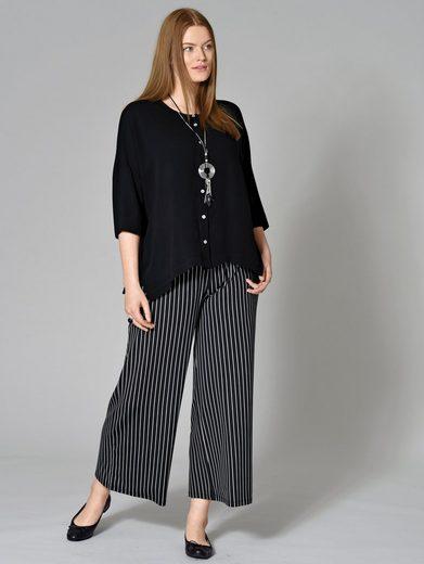 Sara Lindholm by Happy Size Jersey-Hose gestreift