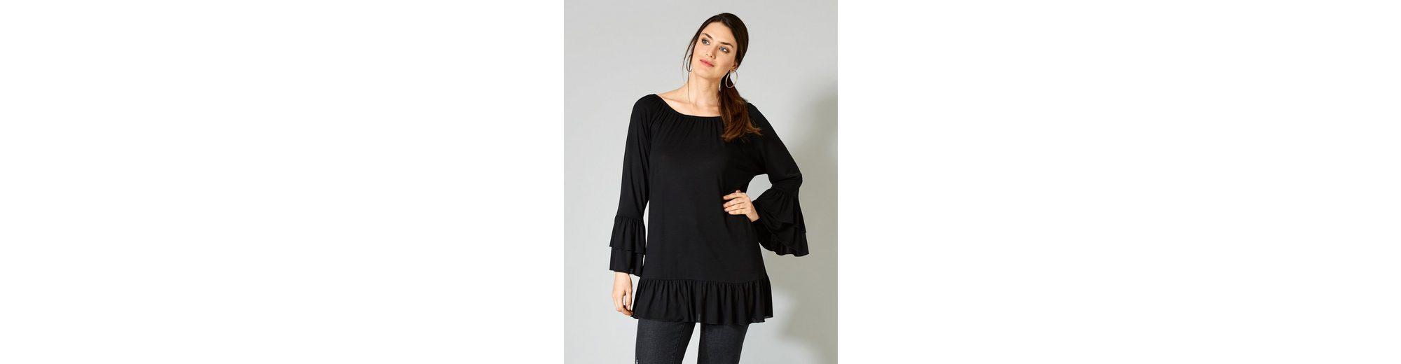 Sara Lindholm by Happy Size Shirt im Carmenstil Original Zum Verkauf e8U94e