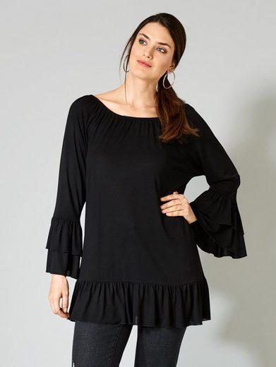 Sara Lindholm by Happy Size Shirt im Carmenstil