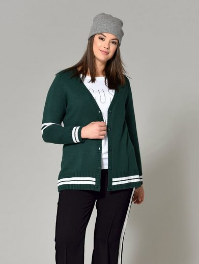 Angel Of Style By Happy Size Strickjacke Im College-style