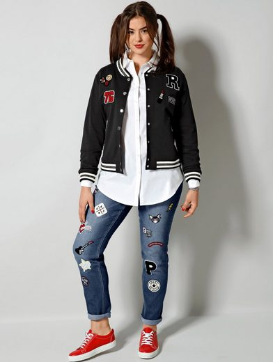 Angel of Style by Happy Size Blouson mit Patches