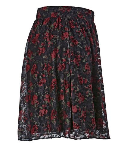 Angel Of Style By Happy Size Skirt With Lace And Floral-print