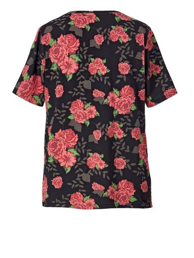 Angel Of Style By Happy Size Shirt Mit Blumen-print