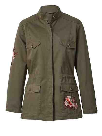 Angel of Style by Happy Size Jacke im Military-Style mit Souvenir-Stickerei