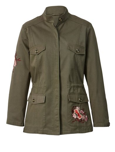 Angel of Style by Happy Size Jacke im Military-Style mit Souvenir-Stickerei