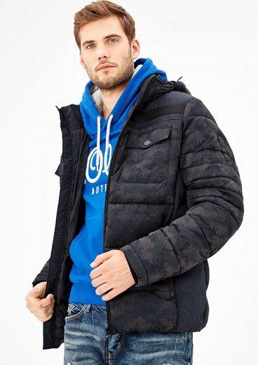 s.Oliver RED LABEL Wattierte Outdoor-Jacke mit Kapuze