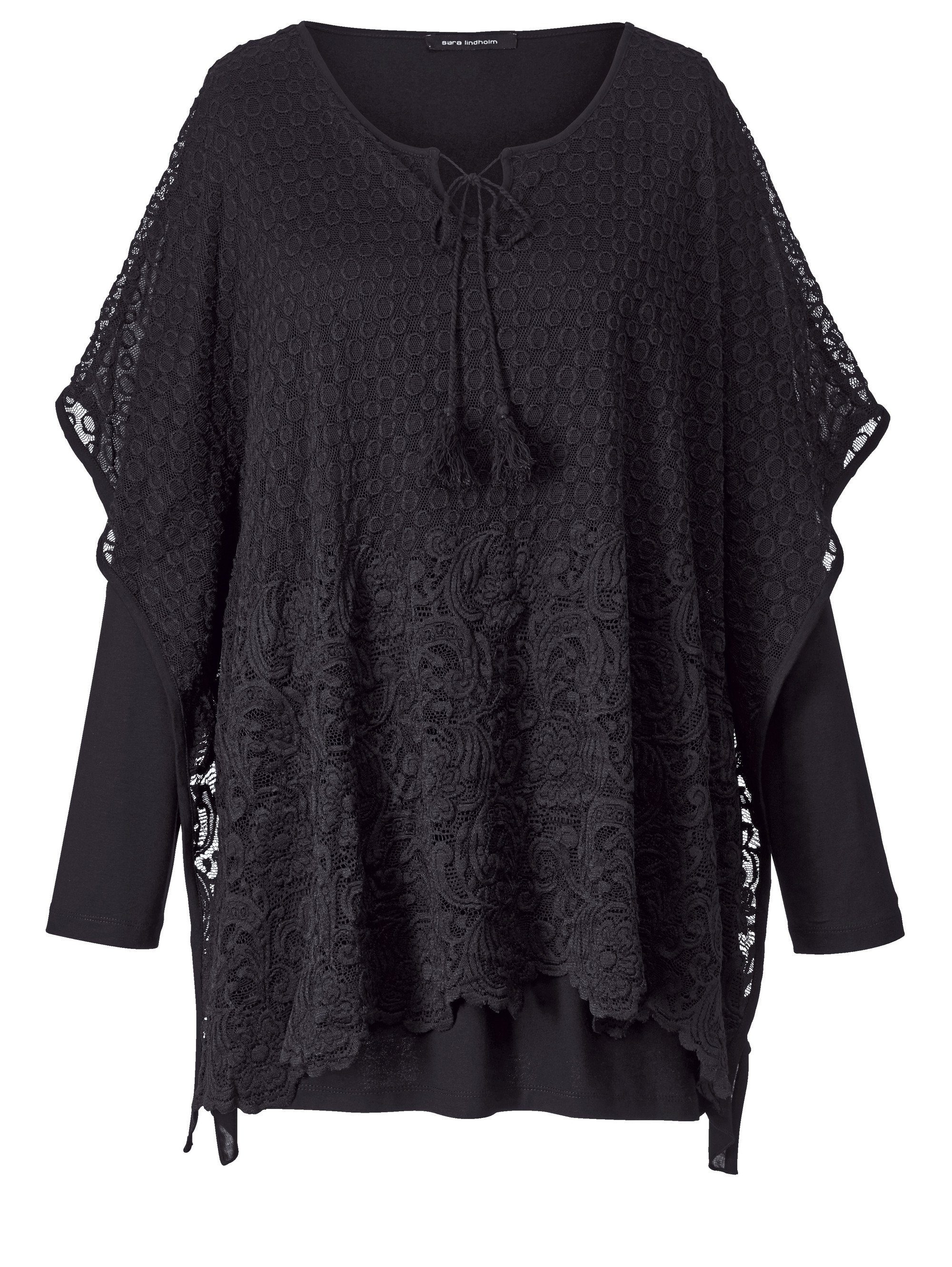 Sara Lindholm by Happy Size 2-in-1-Shirt mit Spitze