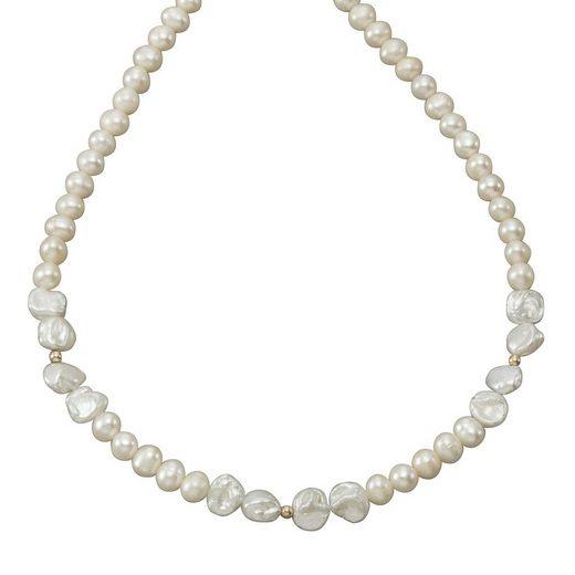 Vivance Collier »375/- Gelbgold Perlen«