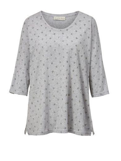 Janet und Joyce by Happy Size Shirt mit Glitzer-Print