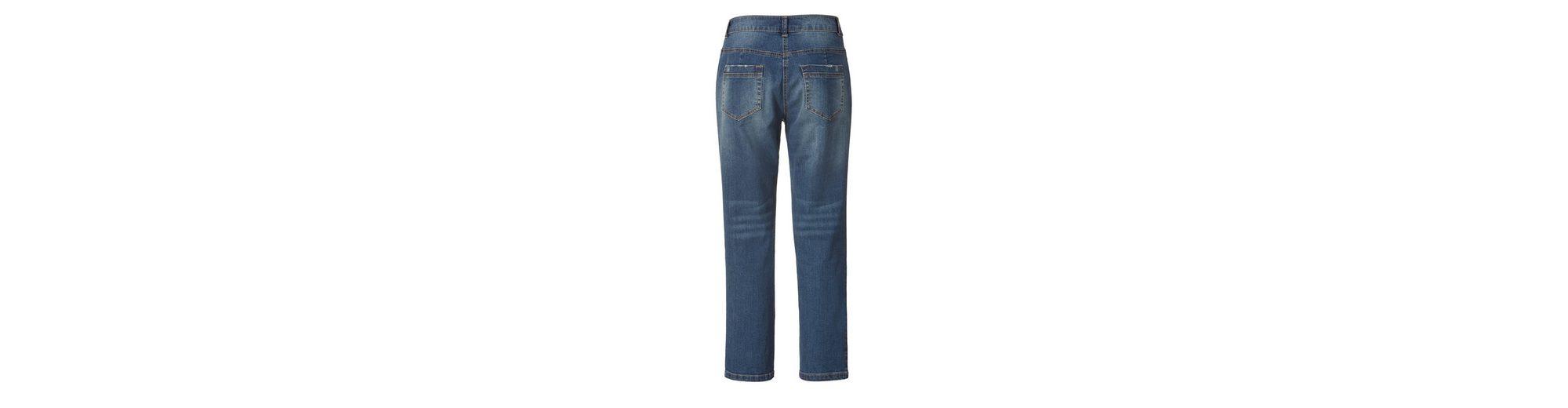 Preise Und Verfügbarkeit Günstiger Preis Janet und Joyce by Happy Size Slim Fit Jeans mit Patches Billig Verkauf Browse haxopaY