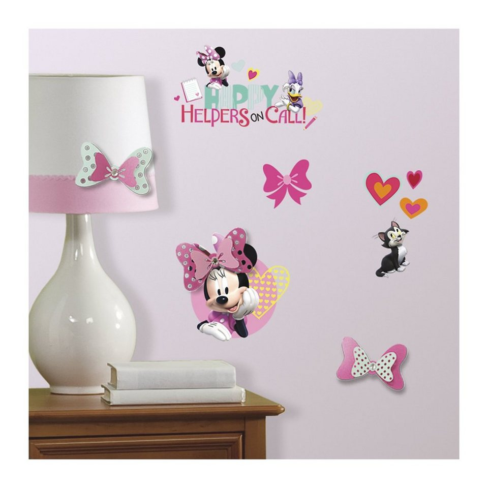 RoomMates Wandsticker Minnie Mouse, rosa/pink | OTTO