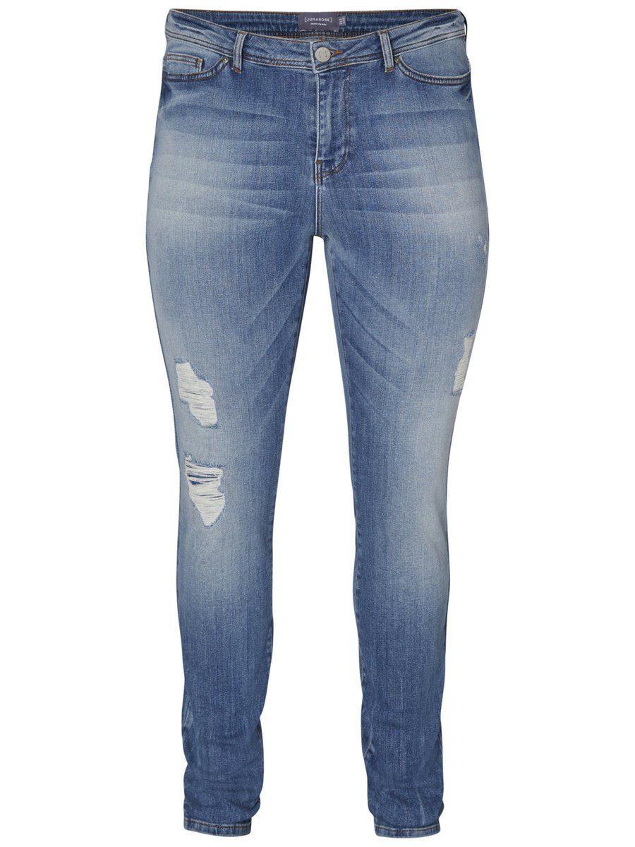 JUNAROSE Destroyed-Effekt Jeans - broschei