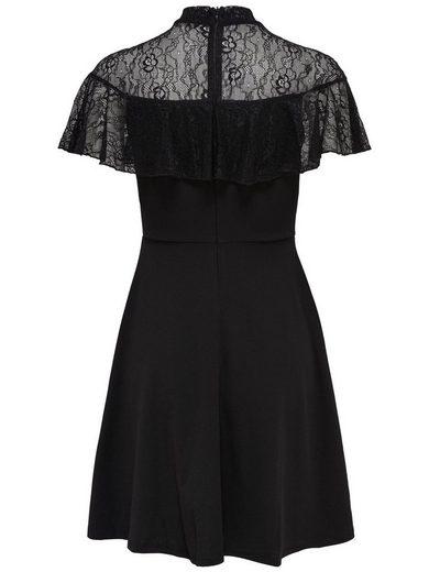Only Spitzen Kleid mit kurzen Ärmeln