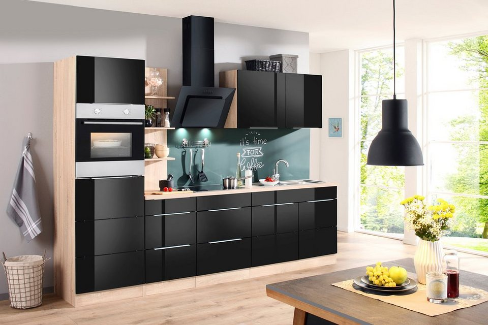 k chenzeile mit e ger ten brindisi breite 270 cm online kaufen otto. Black Bedroom Furniture Sets. Home Design Ideas