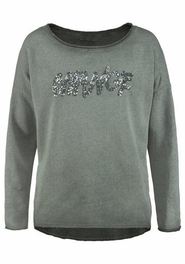 Anna Justper Sweater, Sequined Lettering