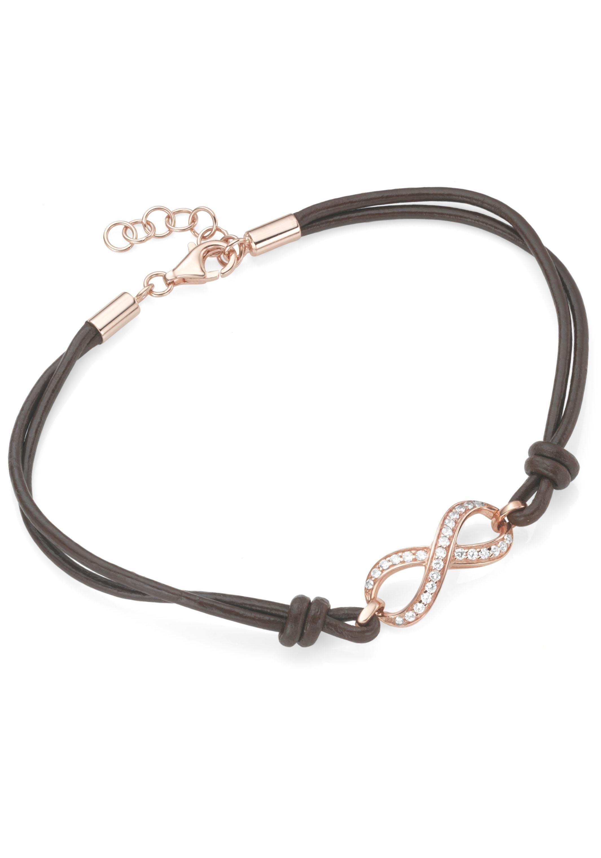 Firetti Armband »Infinity, Unendlichkeitsschleife«, mit Zirkonia