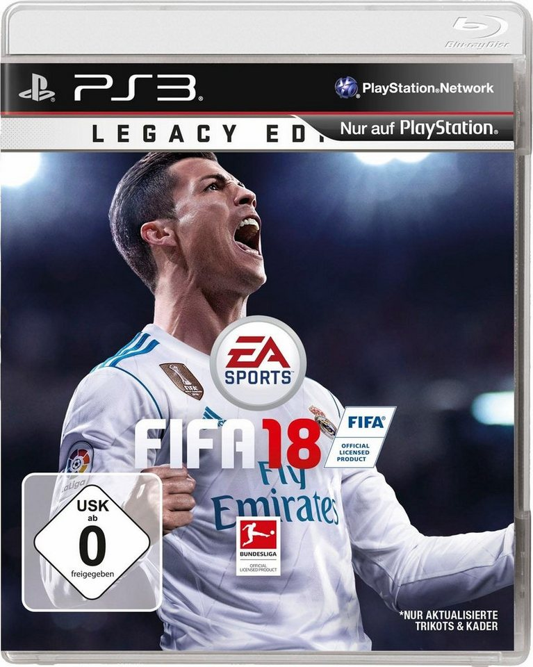 fifa 18 legacy edition playstation 3 online kaufen otto. Black Bedroom Furniture Sets. Home Design Ideas