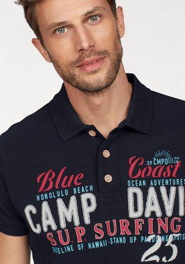 CAMP DAVID Poloshirt, Piqué-Qualität