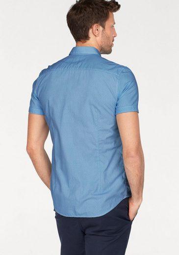Tom Tailor Kurzarmhemd, mit Minimal-Muster