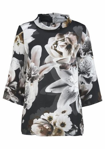 Claire Woman Print Blouse With A Floral Allover-print
