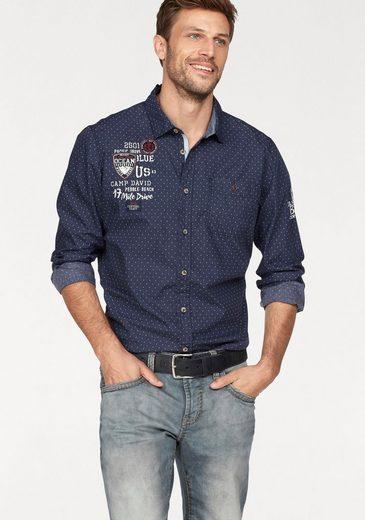 CAMP DAVID Hemd, Jeans-Optik