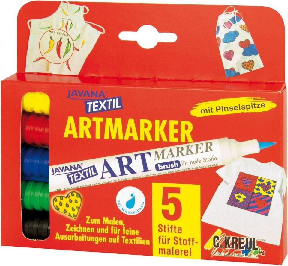 "Kreul Javana Textil Textilstifte-Set ""Artmarker helle Stoffe"" 5er-Set online kaufen"